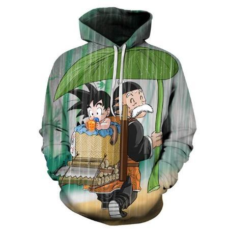 Pullover Hoodie - Dragon Ball Z  Hoodie Featuring Baby Goku 悟空 With Dragon Ball