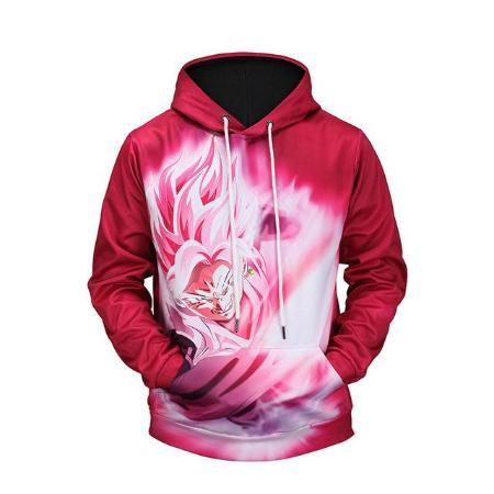 Pullover Hoodie - Dragon Ball Z Hoodie Featuring Flying Super Saiyan Rosé Goku Black ゴクウブラック