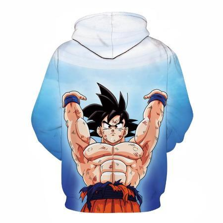 Pullover Hoodie - Dragon Ball Z Hoodie Featuring Goku 悟空 And Giant Kamehameha