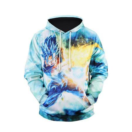 Pullover Hoodie - Dragon Ball Z Hoodie Featuring Goku 悟空 Attacks On Front & Back