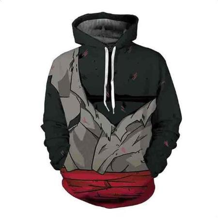 Pullover Hoodie - Dragon Ball Z Hoodie Featuring Goku Black Battle Torn Uniform ゴクウブラック