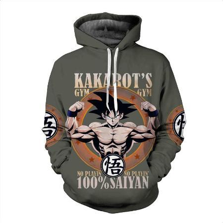 Pullover Hoodie - Dragon Ball Z Hoodie Featuring Goku's 悟空 Gym