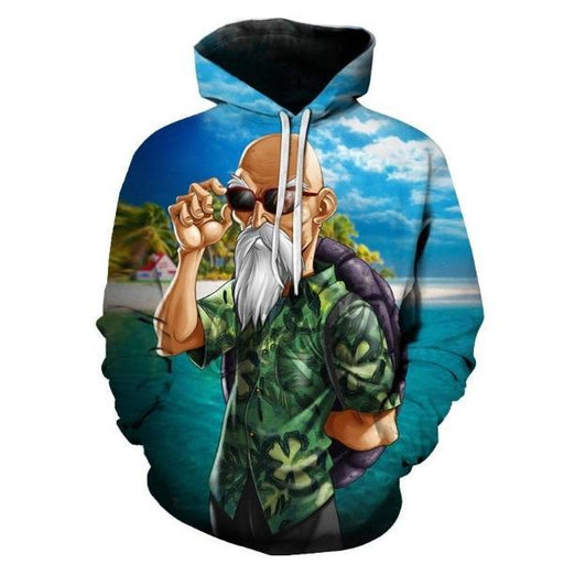 Pullover Hoodie - Dragon Ball Z Hoodie Featuring Master Roshi 武天老師