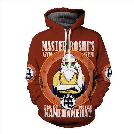 Pullover Hoodie - Dragon Ball Z Hoodie Featuring Master Roshi's 武天老師 Gym