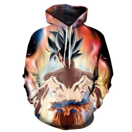 Pullover Hoodie - Dragon Ball Z Hoodie Featuring Ultra Instinct Goku 悟空 With His Back Turned