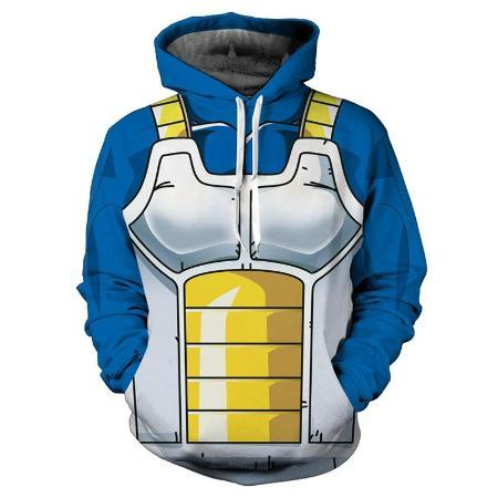 Pullover Hoodie - Dragon Ball Z Hoodie Featuring Vegeta ベジータ Armor