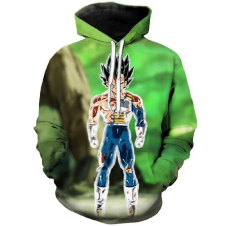 Pullover Hoodie - Dragon Ball Z Hoodie Featuring Vegeta ベジータ Shredded After A Battle