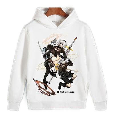 Pullover Hoodie - NieR Automata Hoodie ニーア オートマタ Sexy 2B & 9S