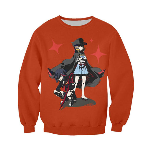Sweatshirt - Kill La Kill Sweatshirt キルラキル Ryuko & Mako