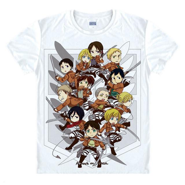 T-Shirt - Attack On Titan 進撃の巨人 Cartoon Style Characters