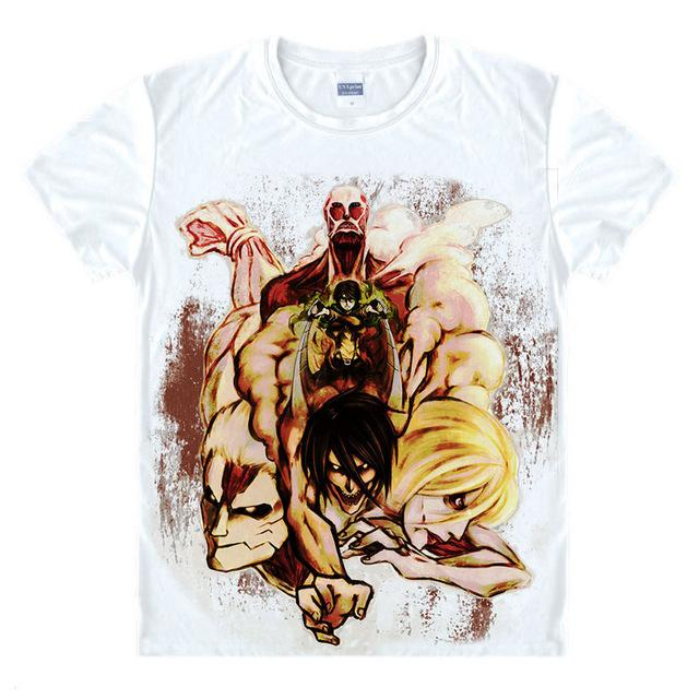 T-Shirt - Attack On Titan 進撃の巨人 Collage Of Titans