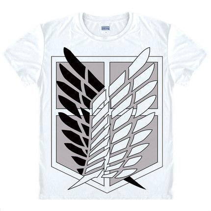 T-Shirt - Attack On Titan 進撃の巨人 Scout Regiment Logo In Black & White