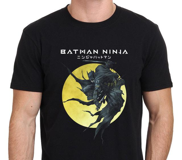 T-Shirt - Batman Ninja Shirt ニンジャバットマン Batman Over Yellow Moon