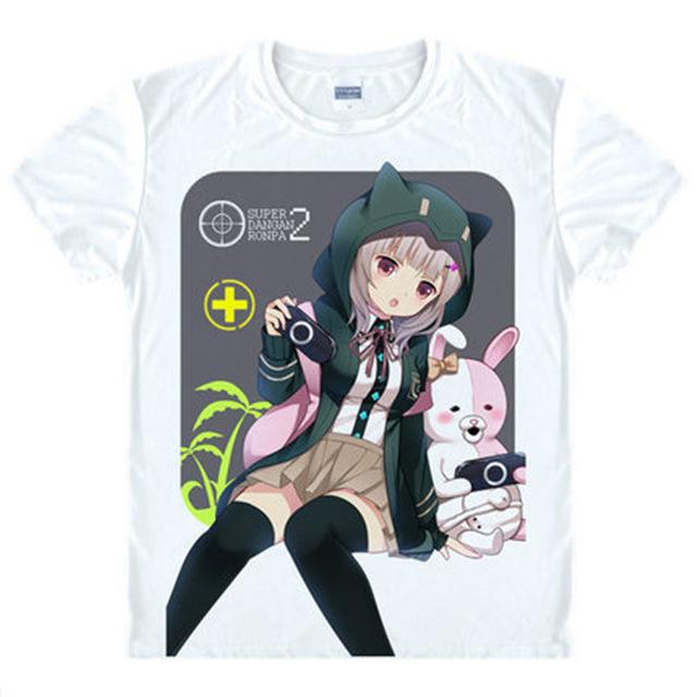 T-Shirt - Danganronpa Shirt ダンガンロンパ Chiaki & Monomi