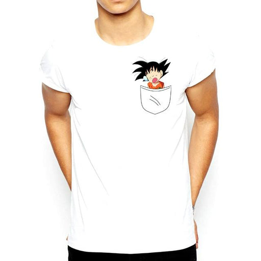 T-Shirt - Dragon Ball Z Shirt ドラゴンボールゼット Kid Goku In Pocket