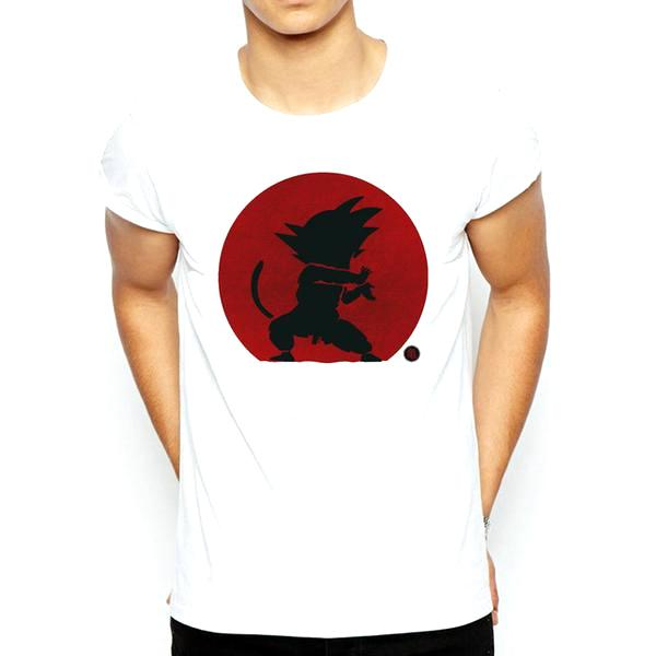 T-Shirt - Dragon Ball Z Shirt ドラゴンボールゼット Kid Goku In Rising Sun