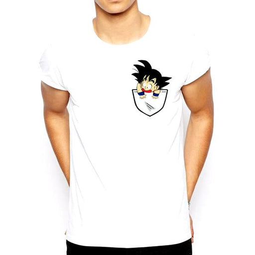 T-Shirt - Dragon Ball Z Shirt ドラゴンボールゼット Kid Goku Scared Of Heights