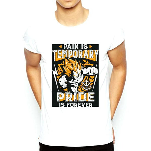 T-Shirt - Dragon Ball Z Shirt ドラゴンボールゼット Pain Is Temporary Pride Is Forever