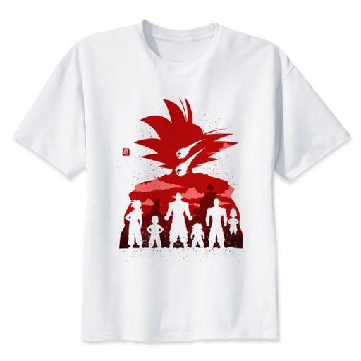 T-Shirt - Dragon Ball Z Shirt ドラゴンボールゼット Saiyans In Silhouette