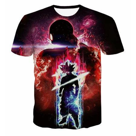 T-Shirt - Dragon Ball Z Shirt Featuring Shadow Goku 悟飯 And Jiren ジレン