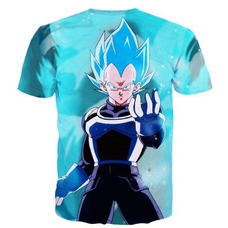 T-Shirt - Dragon Ball Z Shirt Featuring Super Saiyan Blue Goku 悟空 And Vegeta ベジータ