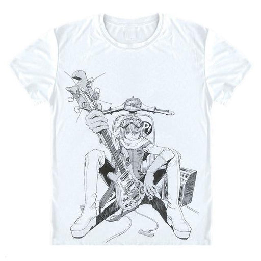T-Shirt - FLCL Fooly Cooly Shirt フリクリ Haruko With Guitar And Scooter