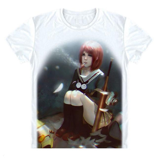 T-Shirt - FLCL Fooly Cooly Shirt フリクリ Mamimi Smoking