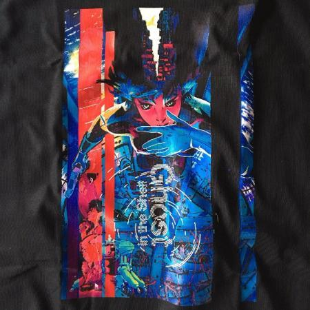 T-Shirt - Ghost In The Shell Shirt 攻殻機動隊 Featuring Major's Jump