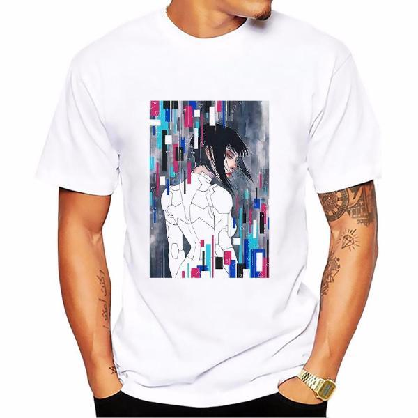 T-Shirt - Ghost In The Shell Shirt 攻殻機動隊 Major Kusanagi Digital Mosaic