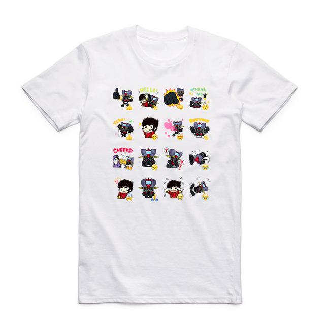 T-Shirt - Mazinger Z Shirt マジンガーZ Cartoony Character Grid