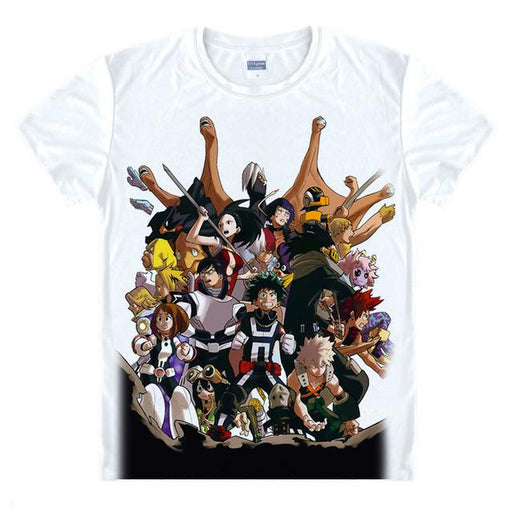T-Shirt - My Hero Academia Shirt 僕のヒーローアカデミア All Heroes Poster