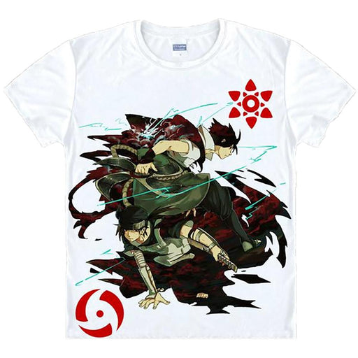 T-Shirt - Naruto Shirt ナルト Sasuke With Fighting Partner