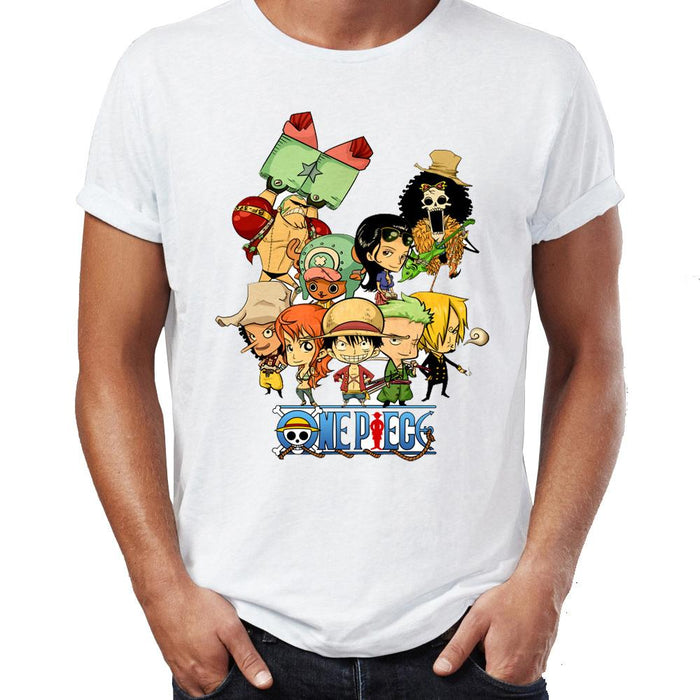 T-Shirt - One Piece Shirt ワンピース Straw Hat Chibi Crew