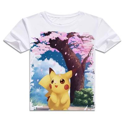 T-Shirt - Pokémon Shirt ポケモン Pikachu And Cherry Blossoms