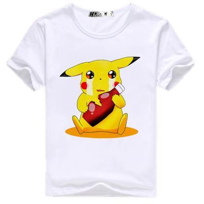 T-Shirt - Pokémon Shirt ポケモン Pikachu With Ketchup