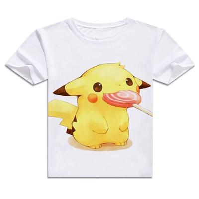 T-Shirt - Pokémon Shirt ポケモン Pikachu With Sucker Candy