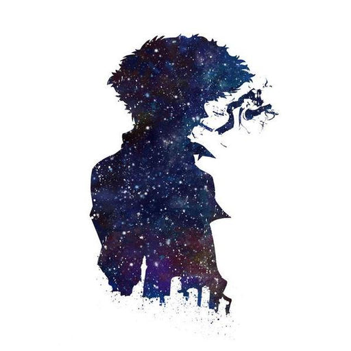 Wall Art - Cowboy Bebop Poster Canvas カウボーイビバップ Spike Spiegel Silhouette With Cigarette