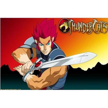 Wall Art - ThunderCats Poster Featuring Lion-O & Logo