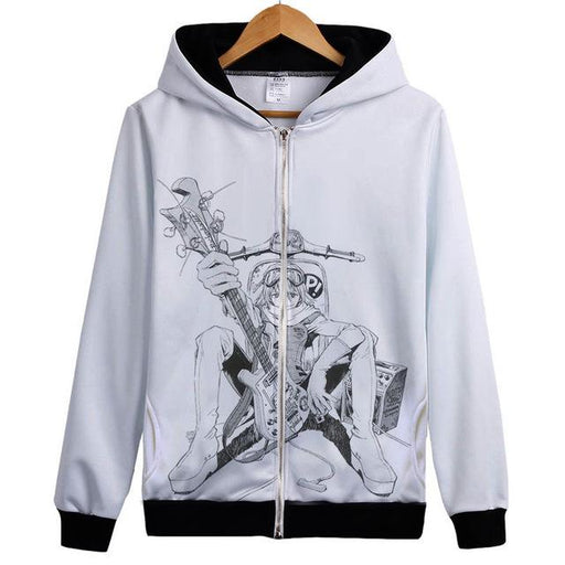 Zip Hoodie - FLCL  Fooly Cooly Zip Hoodie フリクリ Haruko With Guitar And Scooter
