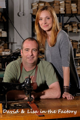 David and Lisa in the factory