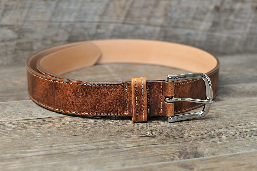 "1.5"" Wide Premium Leather Belt - Mitchell Leather"