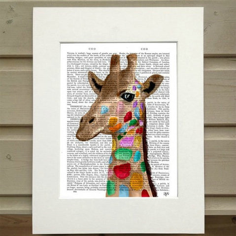 Giraffe Antiquarian Art Print