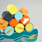 Wooden Whale Balancing Game