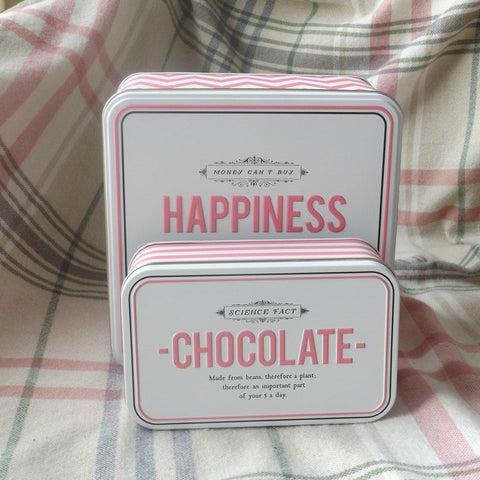 Chocolate Stripy Storage Tin
