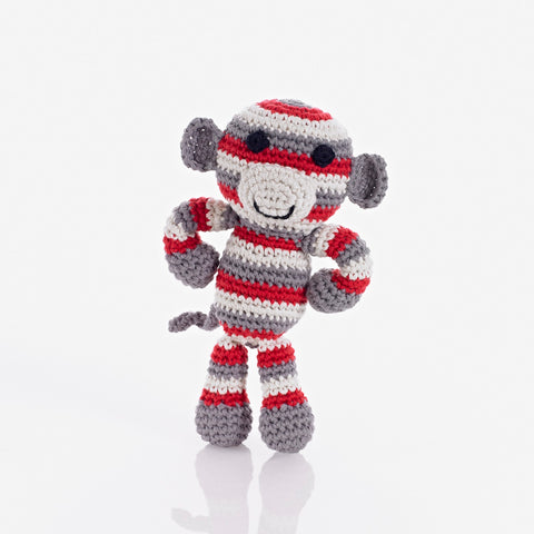 Stripy Monkey Rattle