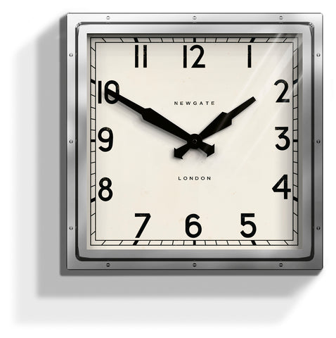 Chrome Quad Clock