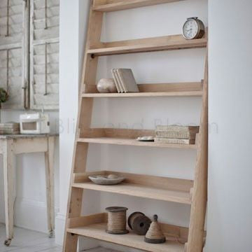 Oak Ladder Shelves
