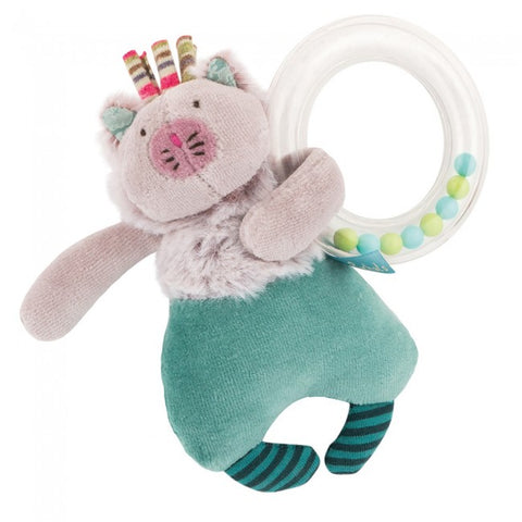 Cat Ring Baby Rattle