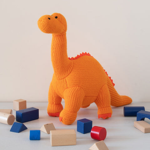 Knitted Diplodocus Toy