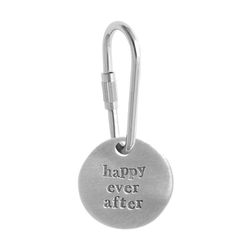 Happy Ever After Pewter Keyring